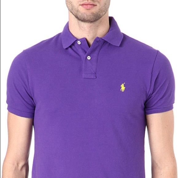 4bdc0635 Ralph Lauren Shirts | Mens Purple Mesh Polo Shirt | Poshmark